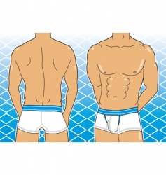 boxer brief vector image