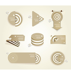 Brown set of paper labels with place for your own vector image vector image