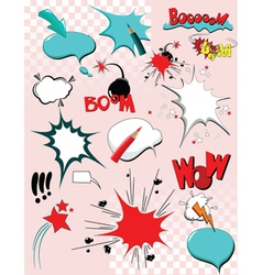 comic icons vector image vector image