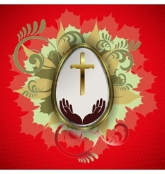 esign with Easter egg vector image vector image