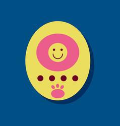 Flat icon design tamagotchi pets pocket game in vector