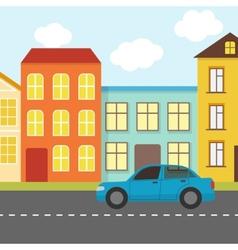 Flat urban landscape vector image vector image