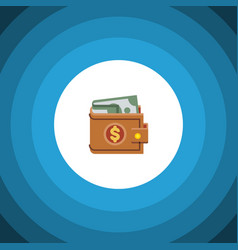 isolated wallet flat icon money element vector image vector image
