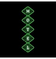 Light neon motel label vector image