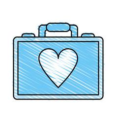 medical briefcase vector image vector image