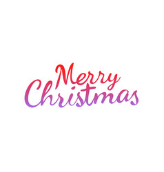 merry christmas calligraphic logo isolated on vector image vector image