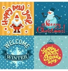 Mery christmas greeting card design vector
