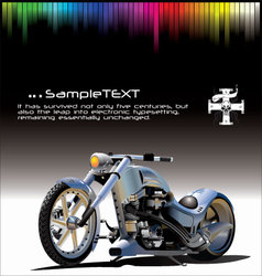 motorcycle background vector image