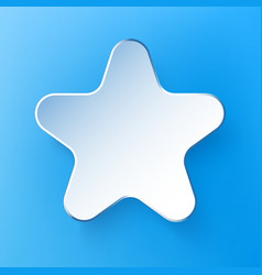 Paper 3d star background vector
