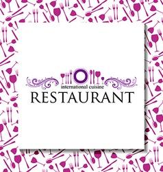 Restaurant identity vector