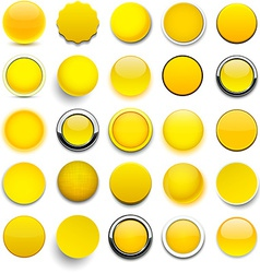 Round yellow icons vector image vector image