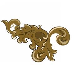 Royal bronze ornament vector