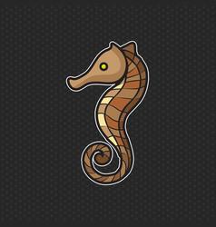 Sea horse logo design template sea horse head icon vector