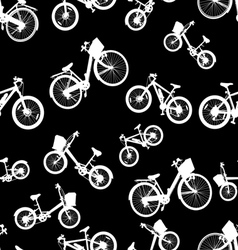 seamless white bicycle bike vector image