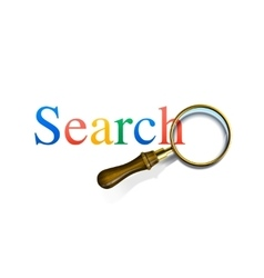 Search word with magnifying glass vector