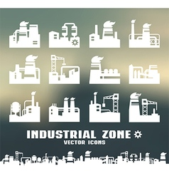 Set of factory icons vector