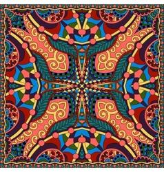 Silk neck scarf or kerchief square pattern vector
