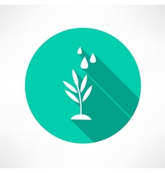 Stem with water icon vector