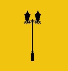 Street light silhouette vector