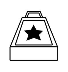 Surprise box stars april fools line vector