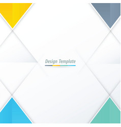 Template triangle design yellow blue green vector