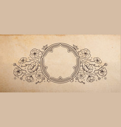 vintage old paper texture with traditional vector image vector image