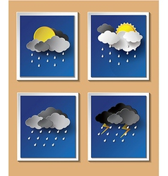 Weather rainning vector image