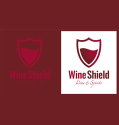 Wine shield vector
