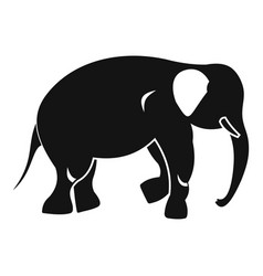 Elephant icon simple style vector