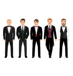 man in suit set vector image