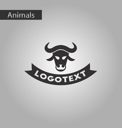 Black and white style icon bull logo vector