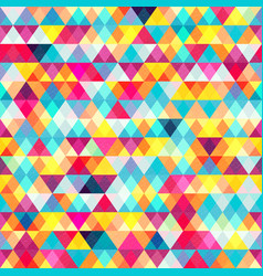 Colored triangles seamless pattern vector