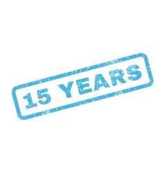 15 years text rubber stamp vector