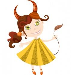 Girl taurus vector