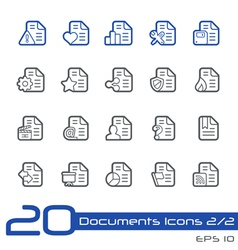 Documents Icons Outline Series vector image
