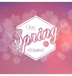 Stylish spring seasonal card design vector