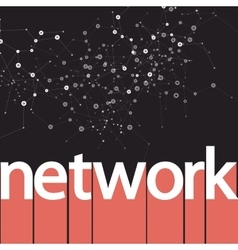 Abstract network on dark cool design vector
