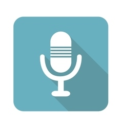Square microphone icon vector