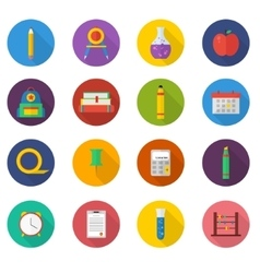 School icon set icons vector
