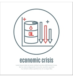 Icon on a theme of economic crisis vector