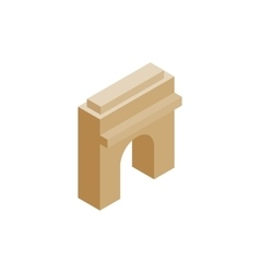 Triumphal arch icon isometric 3d style vector