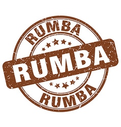 Rumba brown grunge round vintage rubber stamp vector