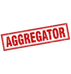 Aggregator square stamp vector