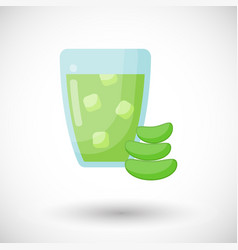 Aloe vera juice flat icon vector