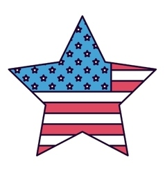 american star isolated icon design vector image vector image