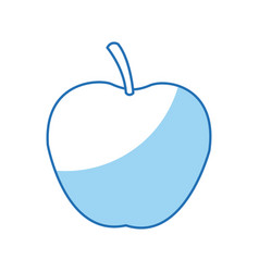 Apple juicy fruit food healthy vector