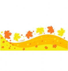 autumn background vector image