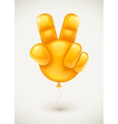 Balloon as hand showing vector image