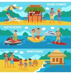 Beach people set vector image vector image