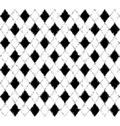 Black and white pattern with grunge rhombuses vector image vector image
